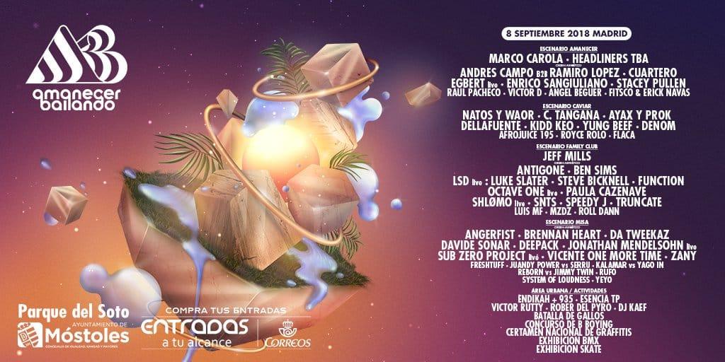 Amanecer Bailando Festival desvela su cartel completo con grandes nombres